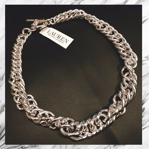 NWT Bold Silver Chain Link Necklace